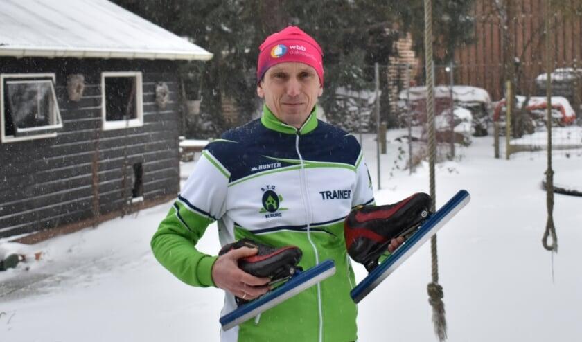 <p>Jan Maarten Heideman heeft de schaatsen geslepen.</p>