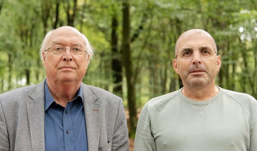 <p>Journalist/schrijver Ad van Liempt en landschapsfotograaf Rolf Baas.</p>