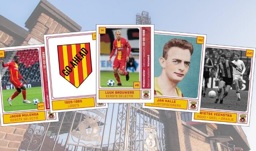 <p>Luuk Brouwers (middelste plaatje) over de Go Ahead Eagles Voetbalplaatjes: &#39;We zijn druk aan het ruilen binnen de selectie.&#39;</p>
