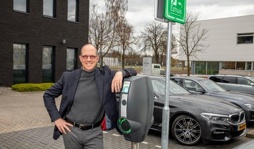 <p>Mark Eshuis, partner Eshuis Accountants en Adviseurs en voorzitter Kennispark geeft Energie. </p>