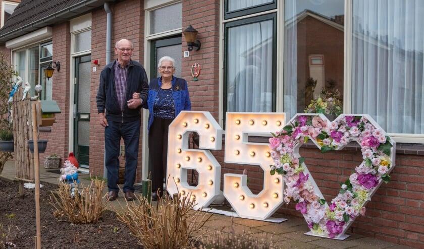 <p>&nbsp;Het bruidspaar Wim en Wijntje van Zijderveld.</p>