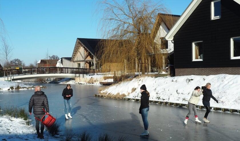 schaatsen in Veenderij