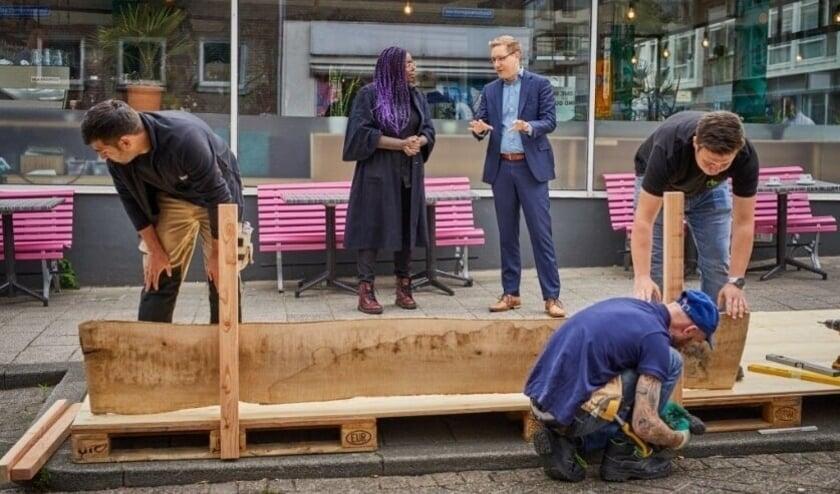 <p>Grotere terrassen kunnen ook in de toekomst weer. Net als in de zomer van 2020, hier in de Hoogstraat.</p>