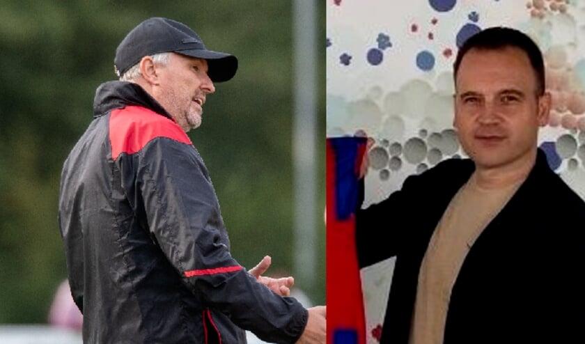 <p>De Belgische coach Mario Bernard (links) &nbsp;blijft in dienst van Nexus, Manuel Vissers gaat KethelSpaland/za leiden. (Foto: PR)</p>