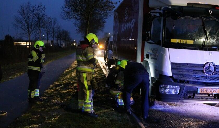 Brand ineen vrachtwagen in Tiel