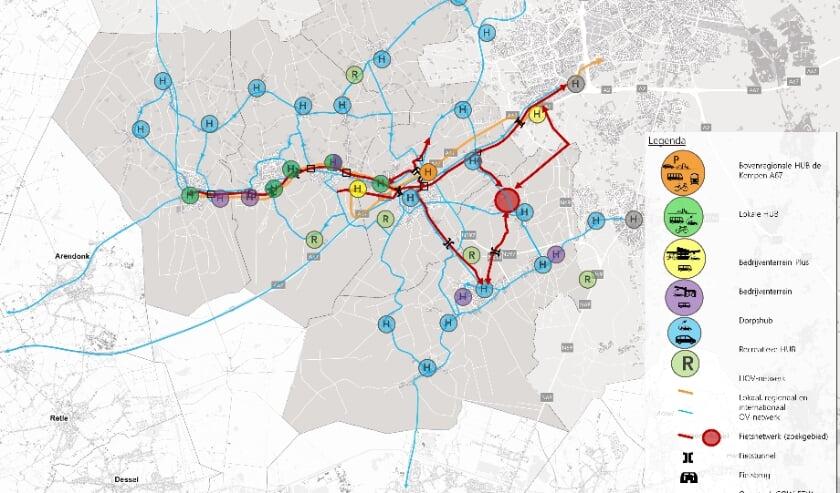 <p>Netwerk van mobiliteitshubs in kaart gebracht voor de Kempen</p>