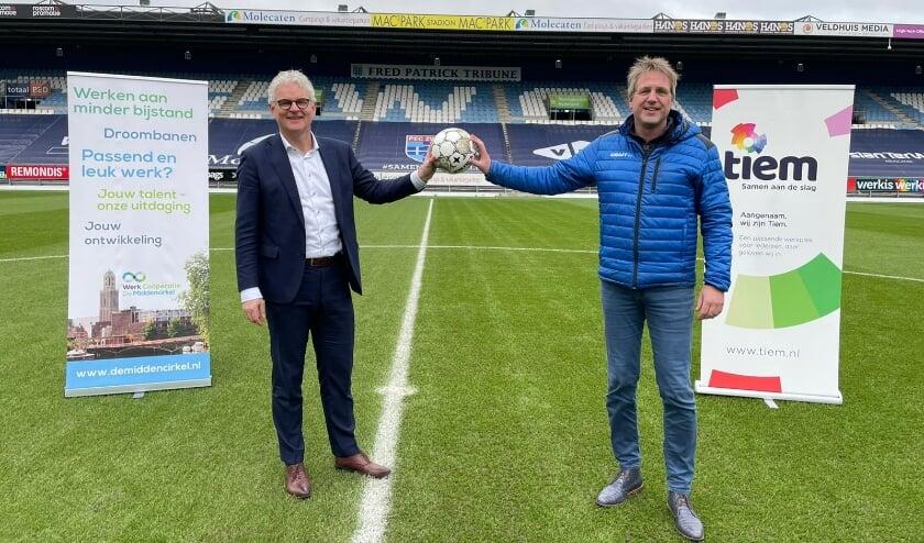<p>Martin Post (links) en Arjan Jansen.&nbsp;</p>