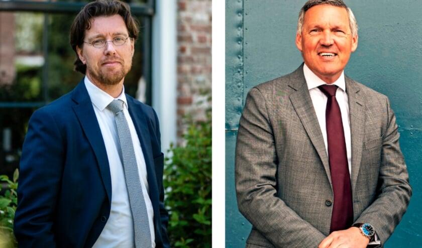 <p>Ruben Leijnse van Zorgstroom en Jaap Wielaart van WVO Zorg, beiden voorzitter van de Raad van Bestuur.</p>
