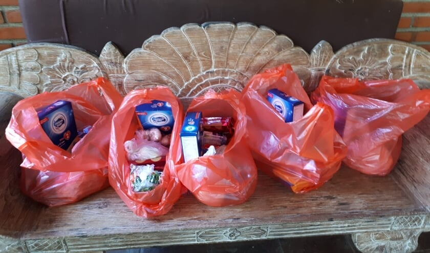 <p>Een voedselpakket voor moeder en kind.</p>