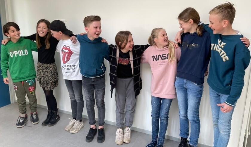 <p>De leerlingen van groep 8 van de Ireneschool.</p>