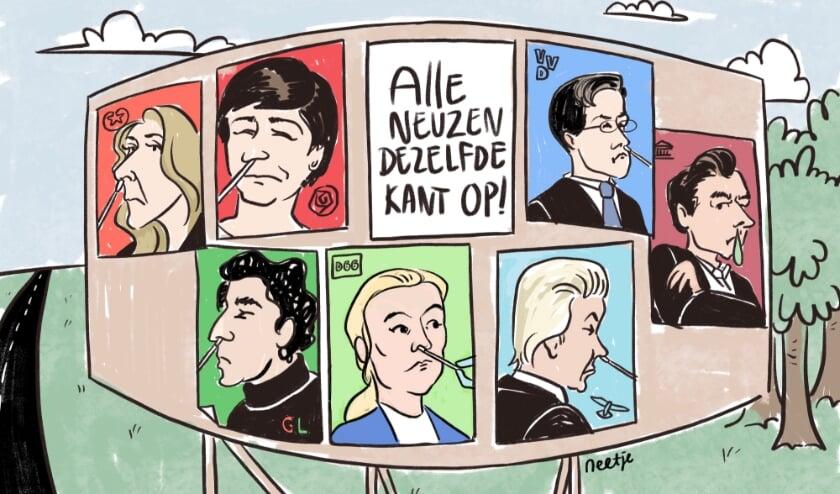 <p>De winnende cartoon van Ren&eacute;e van den Kerkhof.</p>