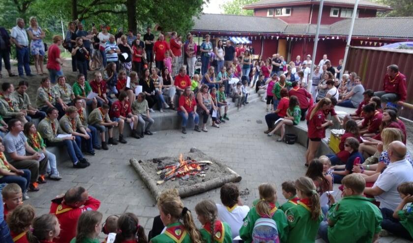 Jubileumviering 5 jaar geleden bij Scouting JMC