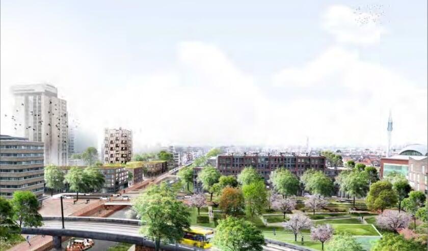 <p>Een artist impression van het Lombokplein zoals dat eruit moet gaan zien. Beeld: gemeente Utrecht</p>
