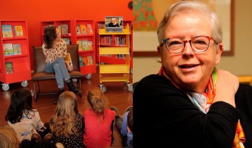 """<p>Wethouder Yolan Koster kondigde de week - vanaf beeldscherm - al aan voor kinderen van de Timothe&uuml;sschool. <span class=""""Fotocredit"""" cstyle=""""Fotocredit"""" style=""""color: rgb(0, 0, 0);"""">Foto: PR Bibliotheek Het Groene Hart&nbsp;</span>&nbsp;</p>"""