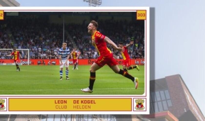 <p>Leon de Kogel viert op dit voetbalplaatje een h&eacute;&eacute;l belangrijk doelpunt tegen De Graafschap: &#39;We hadden zo&#39;n ongelofelijk hecht team.&#39;&nbsp;</p>