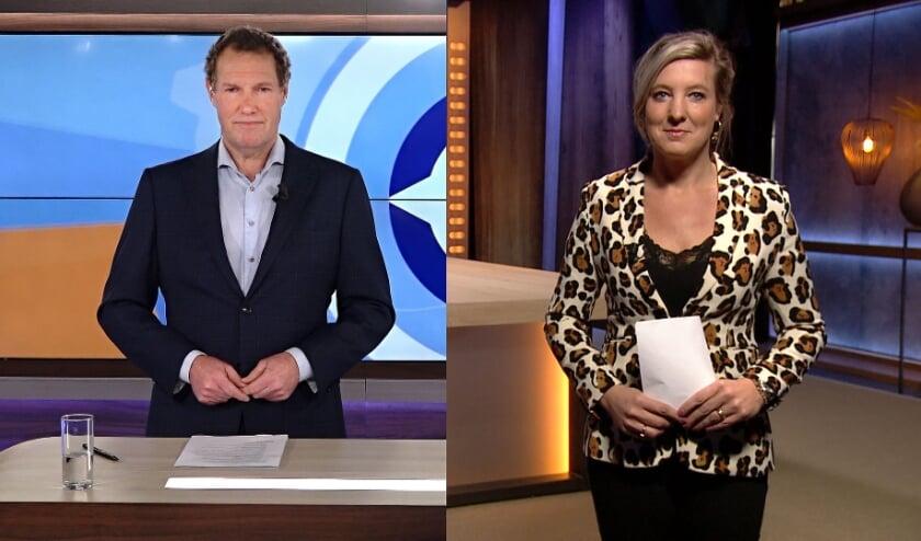 <p>Presentatoren Erik van der Pol (Omroep Gelderland) en Sarah de Geest (RTV Oost).</p>