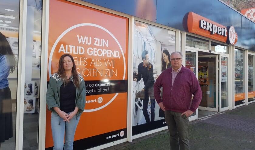 WOC-bestuursleden Manon Franse en Herbert Boon willen graag de winkels en de terrassen weer open.