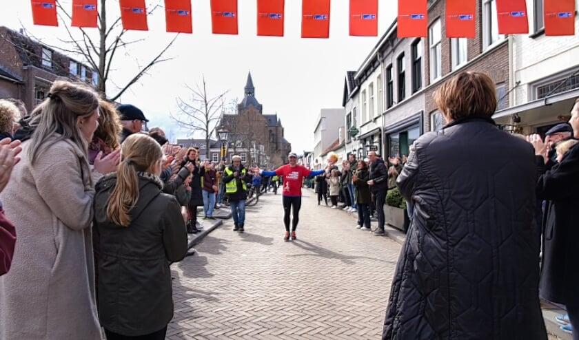 Marco Vugts genoot met volle teugen van zijn bijzondere marathon.