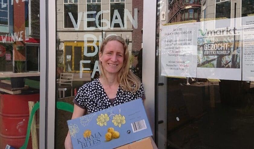 <p>Natascha de Rooij van Vmarkt geeft innovatieve plantaardige producten een (proef)podium.</p>