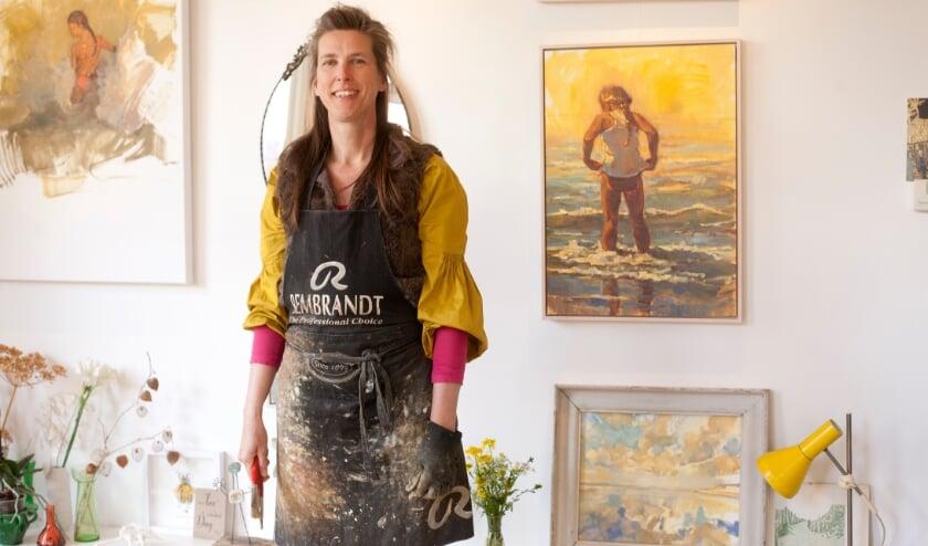 <p>Beeldend kunstenaar Anneke van der Lende: &quot;Als ik mooie wolkenpartijen zie, dan loop ik naar de Munt&quot;.&nbsp;</p>