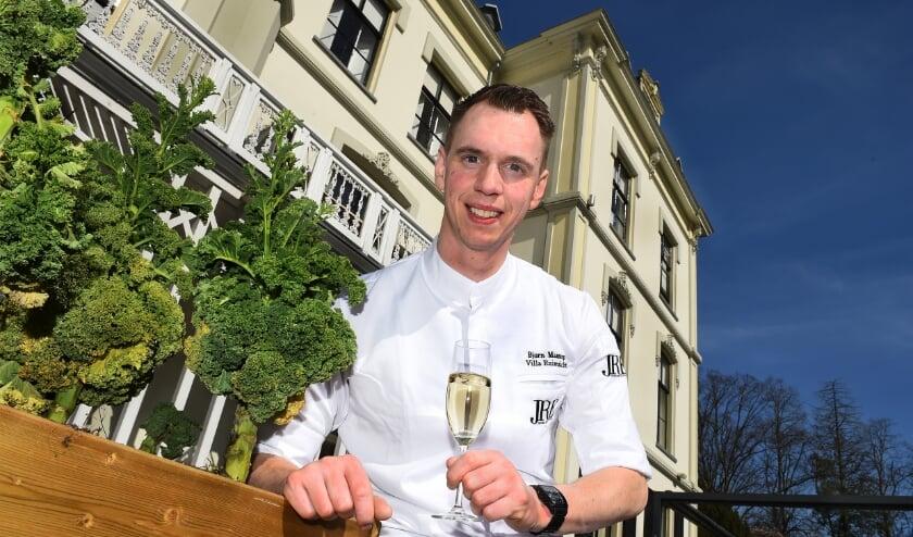 Bjorn Massop, chefkok bij hotel villa Ruimzicht in Doetinchem.
