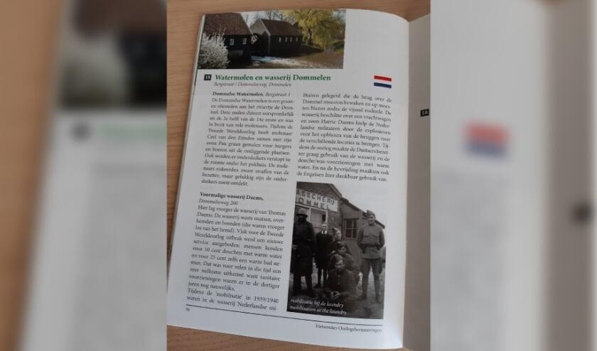 <p>Een pagina uit het boekje 'Oorlogsherinneringen'</p>