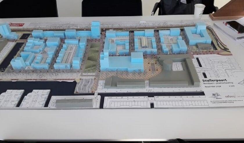 <p>Maquette van de nieuw te bouwen wijk Snellerpoort.</p>