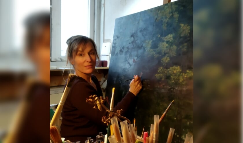 Charlotte Houwing aan het werk