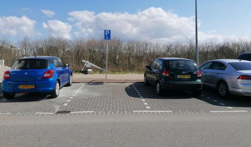 <p>De enige parkeerplaats die nog in Kijkduin te vinden is.&nbsp;</p>