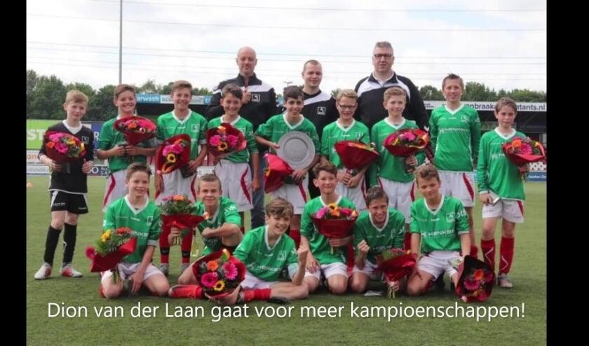 DOVO JO13-1 seizoen 2018/2019 kampioen Hoofdklasse C