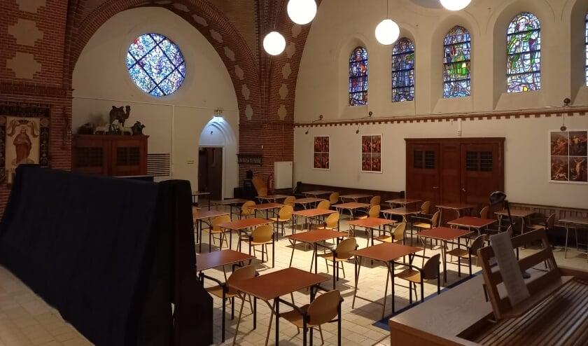 <p>Een schoollokaal in het Stadsklooster. Foto: Judith</p>