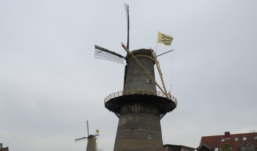 <p>De nieuwe vlag van de stichting wappert.&nbsp;</p>