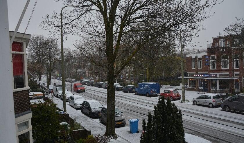 <p>En ineens lag er weer sneeuw in Rijswijk. Foto: Kees Franken&nbsp;</p>