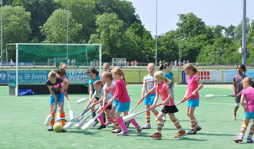 <p>Knotshockey is erg geliefd bij de jongste jeugd. Foto: Joram Vesters</p>