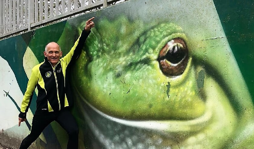 <p>Henk van Gerven na aankomst in Breda. Foto gemaakt door Kees Smetsers.&nbsp;</p>
