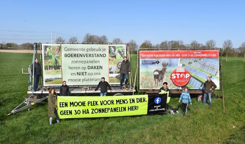 Buurt Etten protesteert tegen de komst van zonneparken.