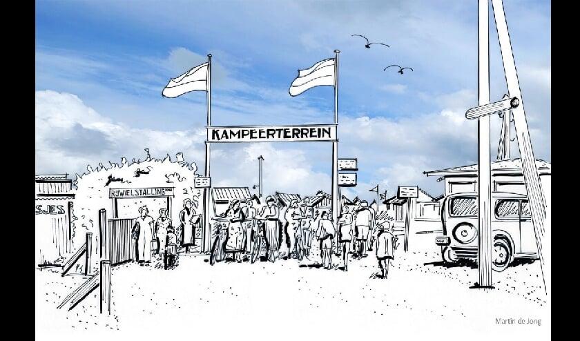 Entree kampeerterrein Hoek van Holland