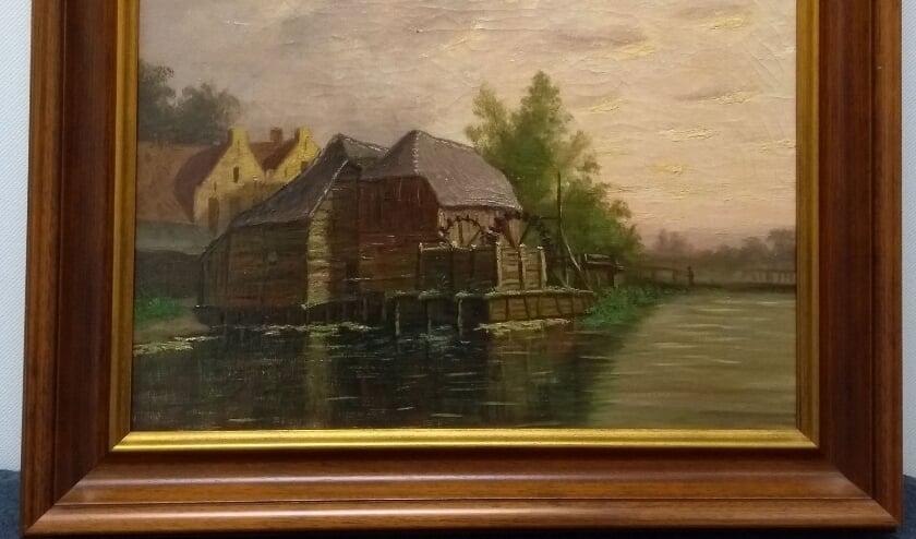 <p>Een van de twee werken van Anton Kerssemakers die Eindhoven Museum heeft verworven. De bedoeling is dat de schilderijen een plek krijgen in de voorziene museumuitbreiding VONK.</p>
