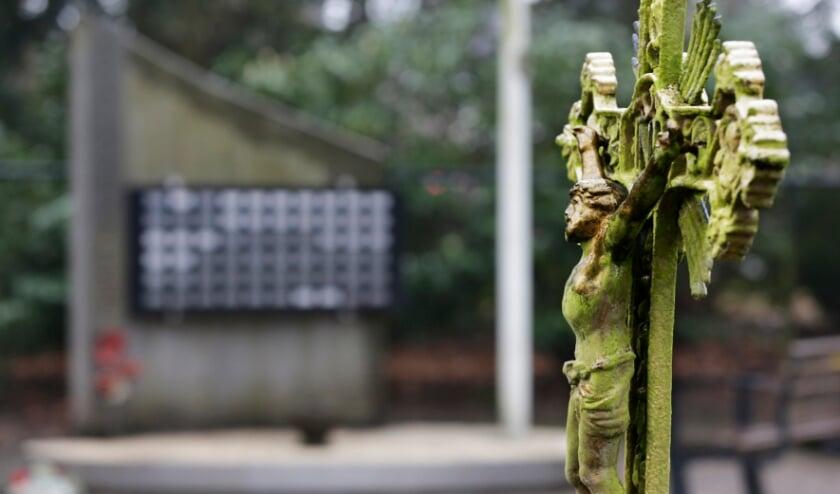 <p>Het oorlogsmonument op de Oude Begraafplaats aan de Kerkhofstraat in Valkenswaard. </p>