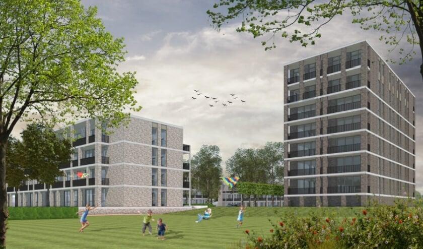 <p>Het complex bestaat uit 4 gebouwen rondom een binnenhof. De gebouwen zijn respectievelijk 3, 4, 4 en 8 lagen hoog.</p>