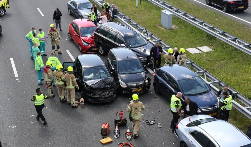 <p>Het ongeval.</p>