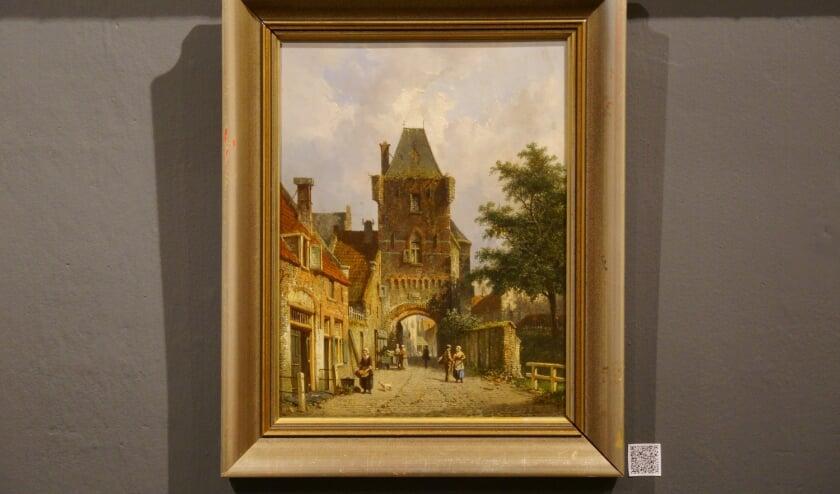 <p>Adriaan Eversen wordt gewaardeerd om de sfeer in zijn werken, zoals in &lsquo;De Dijkpoort van Hattem&rsquo;.</p>
