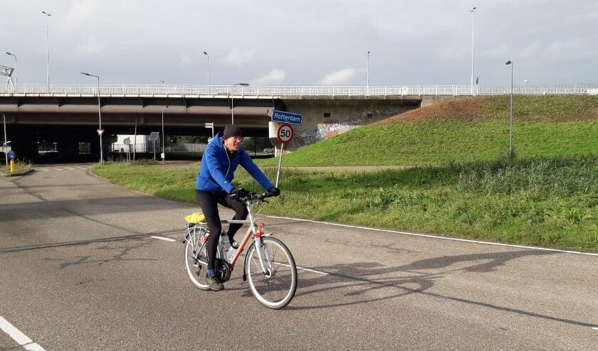 <p>Directeur J. van der Ham (fietstocht 2020).</p>