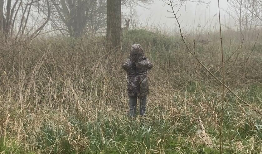 Mats fotografeert tijdens een wandeling een reegeit