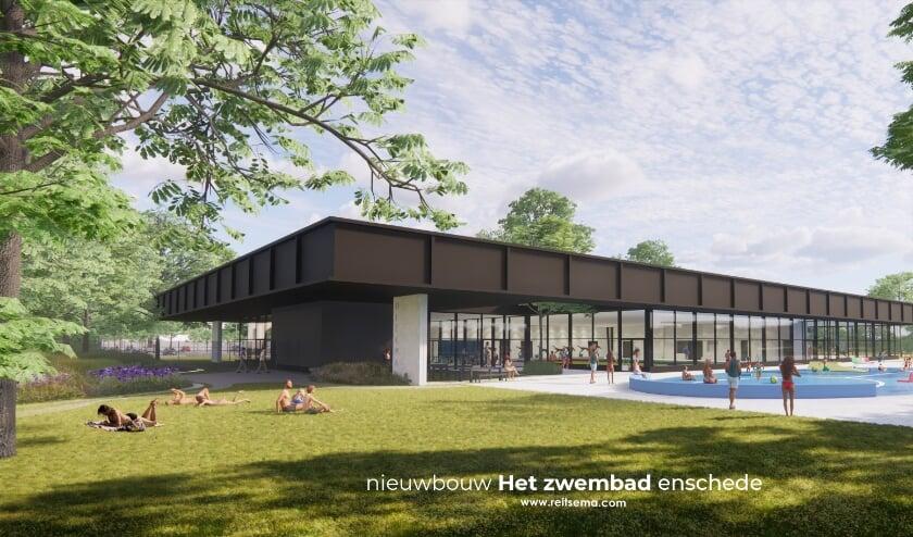 <p>Het nieuwe zwembadcomplex komt parallel aan de bestaande buitenbaden te liggen naast het huidige Aquadrome.</p>