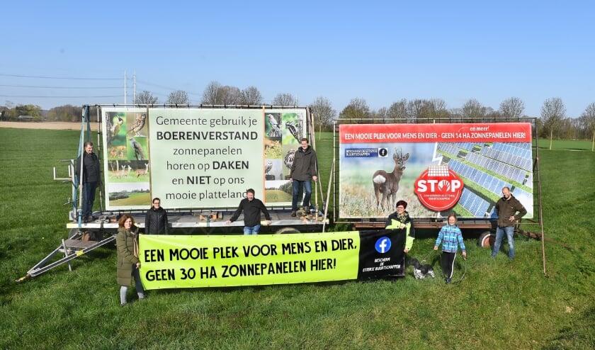 <p>Buurt Etten protesteert tegen de komst van zonneparken.</p>