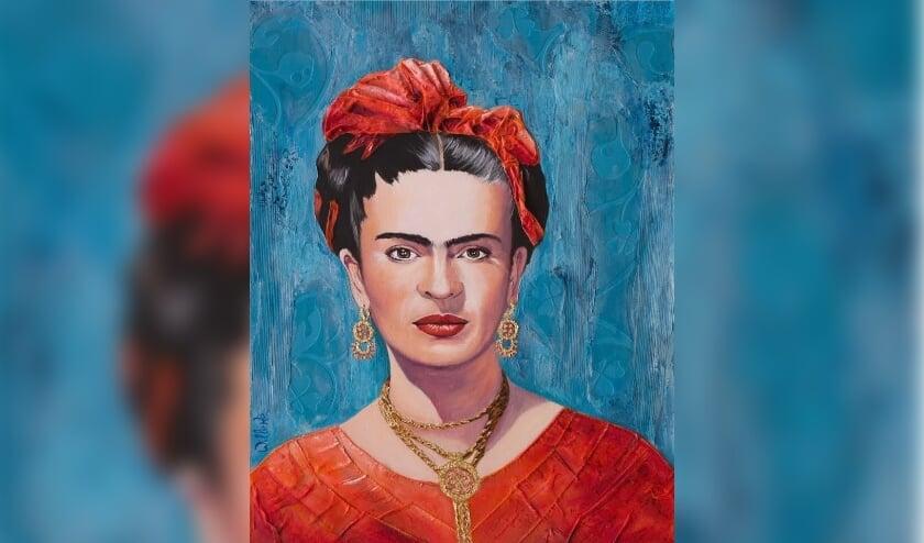 <p>Deze week het schilderij Tribute to Frida Kahlo 2 van Willeke Lijkendijk.</p>