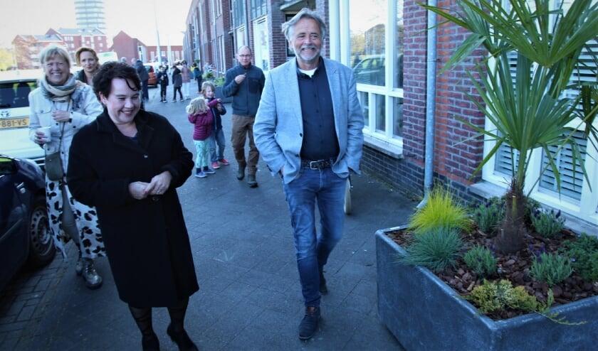 <p>Burgemeester Sharon Dijksma kwam naar de Monarchvlinder voor de officiële ingebruikname van de plantenbakken. Foto: Johan Maaswinkel</p>