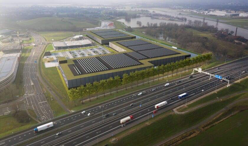 <p>Met de bouw van twee grote bedrijfshallen zit bedrijventerrein Seingraaf vol. De daken van het nieuwe complex komen vol te staan met zonnepanelen.</p>