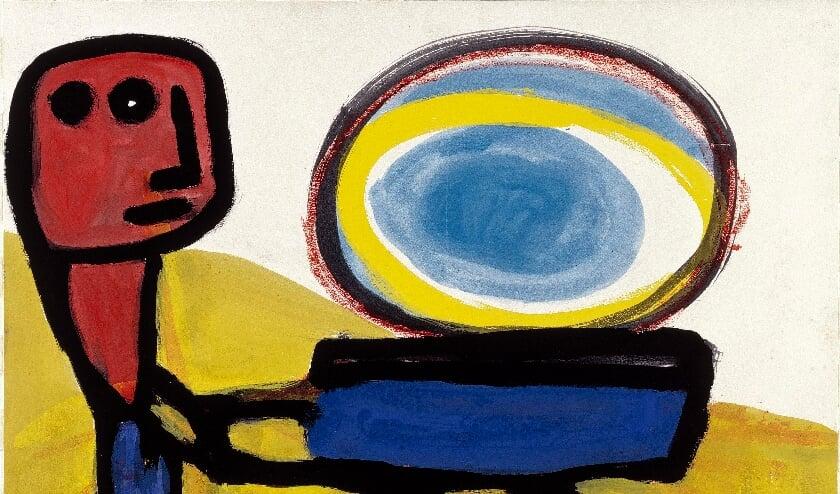 <p>Karel Appel, Mannetje met de zon, 1947.&nbsp;</p>